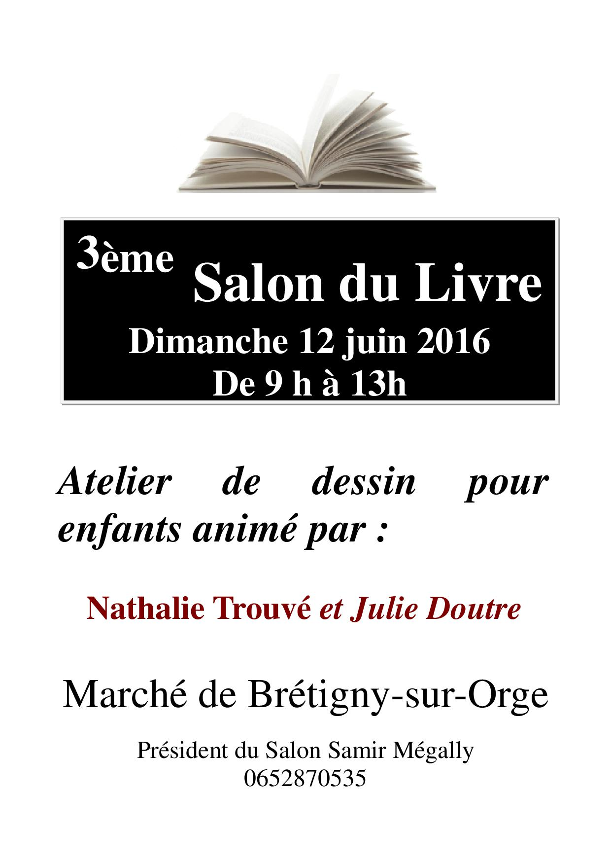 Pub 3ème salon du livre le 12  juin 2016