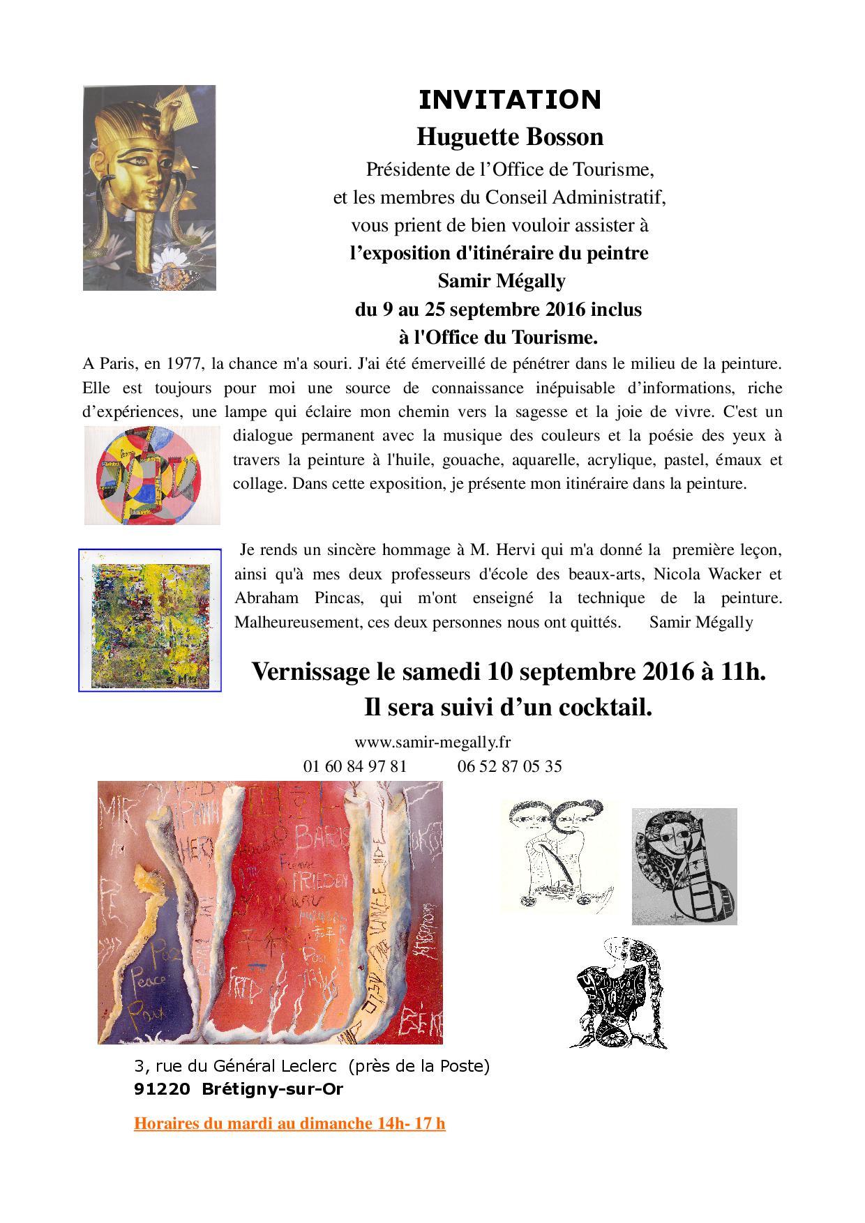 Exposition de Samir Mégally
