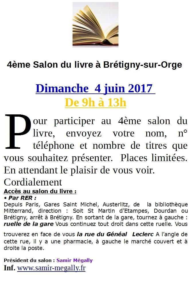 4 me salon du livre au march de br tigny sur orge samir for Salon du livre 2017 montreuil